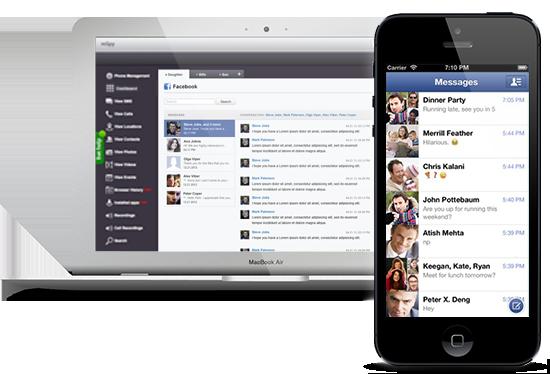 Mit unserer Software lassen sich auch Facebook Nachrichten mitlesen auch über den Facebook Messenger